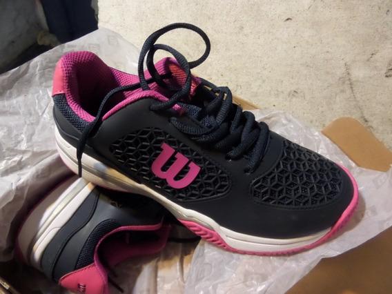 Zapatillas Tenis Wilson Match Womens Navy/pink Mujer 37,5