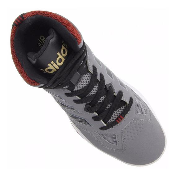 Tenis Cano Alto adidas Cloudfoam Thunder Mid Cinza/preto