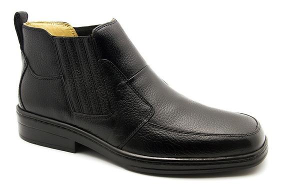 Botina Masculina 915 Em Couro Floater Preto Doctor Shoes