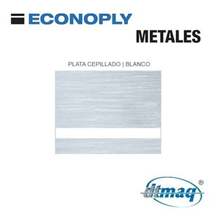 Plástico Bicapa Laserable 1200x600mm Econoply Metalizados