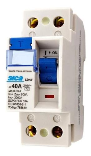 Disyuntor Diferencial Automático Sica Bipolar 40 Amp 2x40