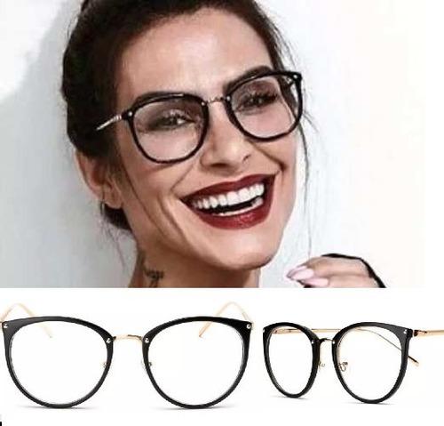 e93ba9795 Armação Para Grau Feminino Oculos Em Acetato Geek Vintage - R$ 58,37 em  Mercado Livre