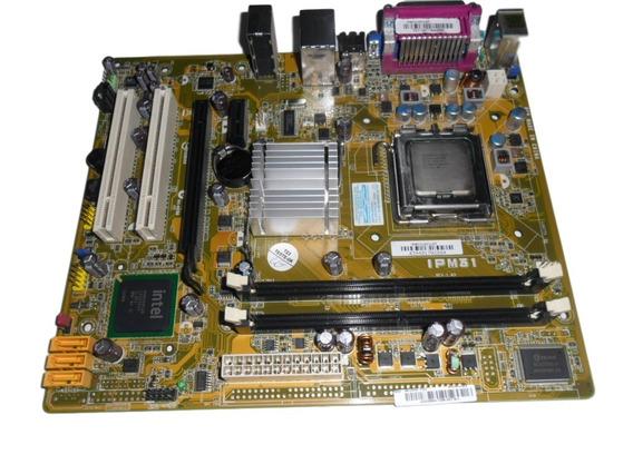 Placa Mãe 775 Ddr2 Pcware Mega Ipm31 + Dual Core 2,5 Coller
