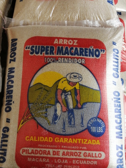 Arroz Macareño Original En Quintal