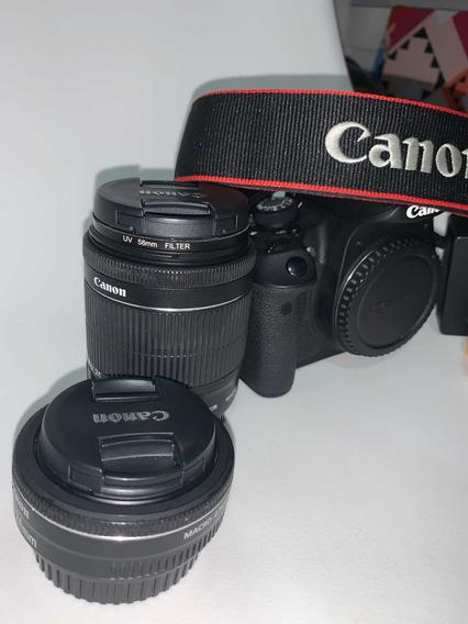 Câmera Canon T5i Kit Completo + 2 Lentes Eos + Case