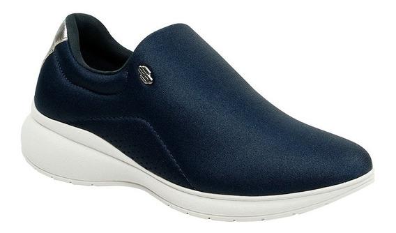 Tênis Usaflex Original Azul Marinho Confortável Sem Cadarço