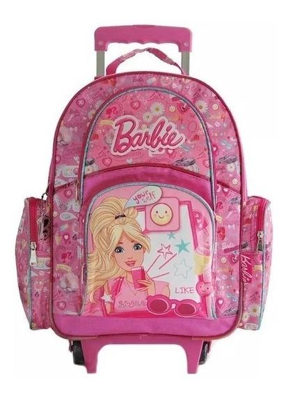 Mochila Barbie Carro 17 Pulgadas Vane Deco