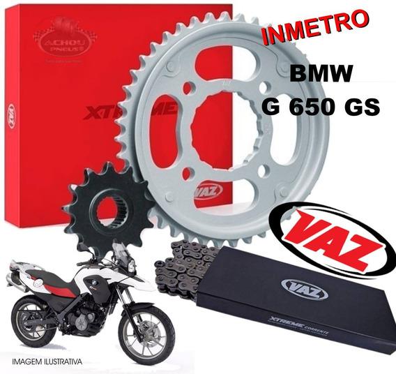 Kit Relação Bmw G650 Gs Vaz + Corrente C/retentor 520h 0001