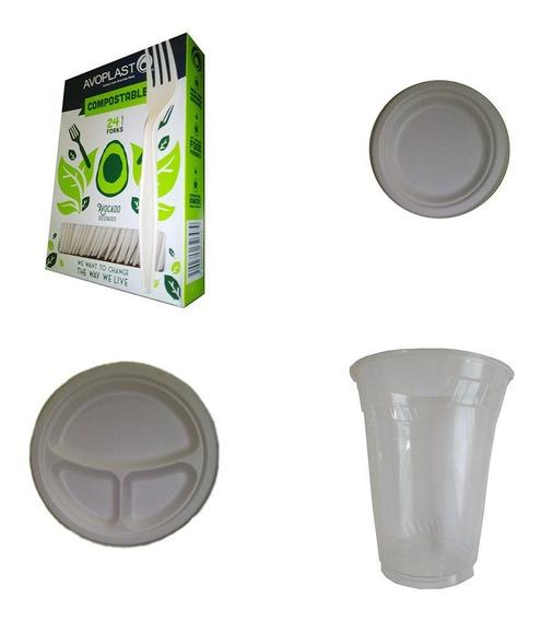 Desechables Biodegradables Combo Fiesta P/48 Personas