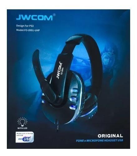 Headphone Gamer Jwcom C/ Usb 7.1 Ps3 Ps4 Pc Note