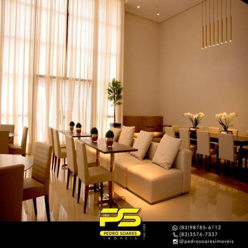 Apartamento Com 3 Dormitórios À Venda, 134 M² Por R$ 899.335 - Altiplano Cabo Branco - João Pessoa/pb - Ap3109