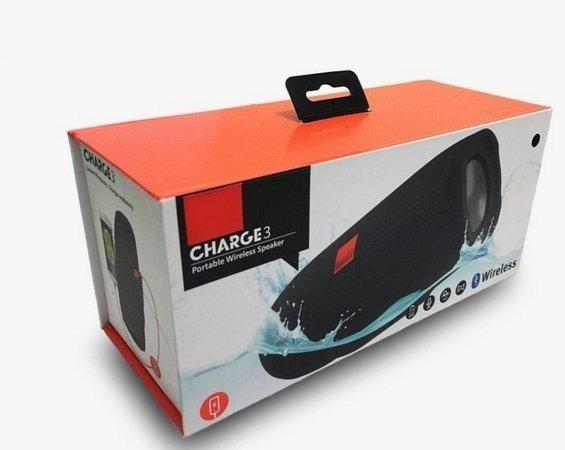 Caixa De Som Charge 3 Portátil Bluetooth Pen Drive Fm Cartão