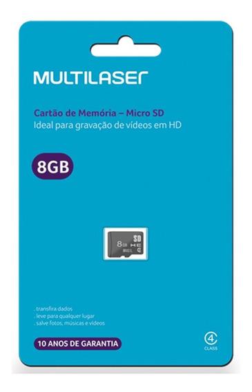 Cartão Memória 8 Gb Micro Sd Multilaser