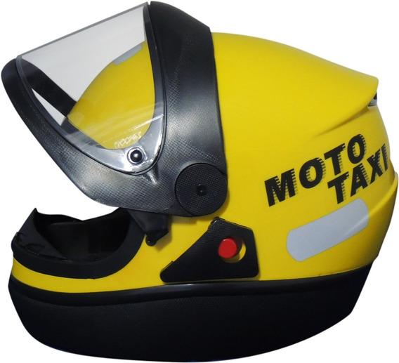 Capacete Automático Amarelo Moto Táxi Fw3