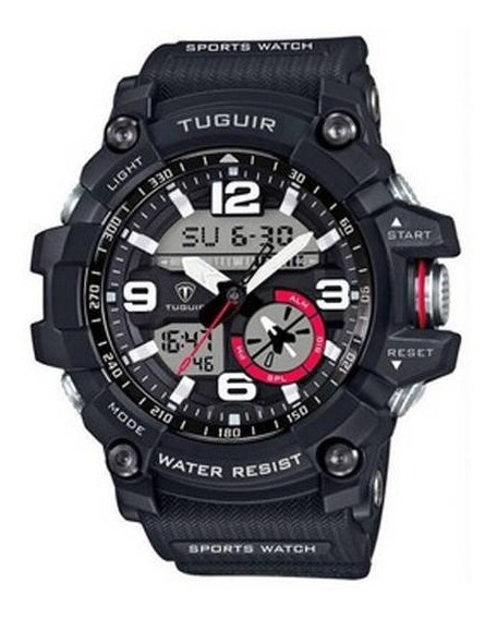 Relógio Masculino Tuguir Anadigi Tg6009 A Prova Dagua