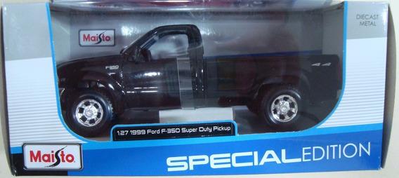 Miniatura Ford F350 Super Duty 1999 1/27 Maisto Novo #m12