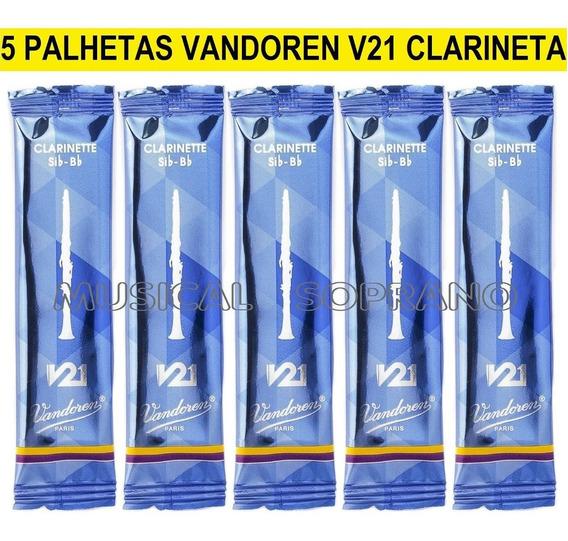 5 Palhetas Vandoren V21 Para Clarineta - N° 2,5