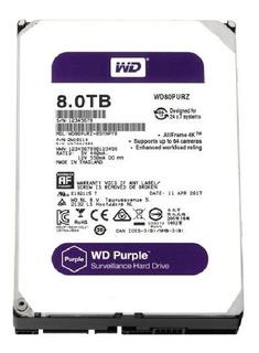 Disco Duro Wd Hdd Purple 8tb 7200rpm 256mb Surveillance