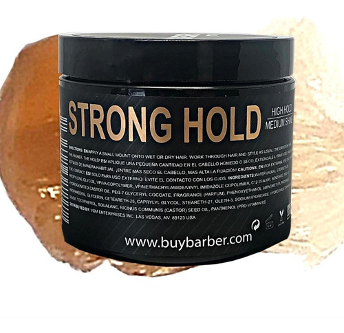 Buybarber Cera Para El Cabello Strong Hold Base Agua