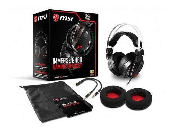 Diadema Gamer Msi Inmerse Gh60 Con Micrófono, 3.5 Pulgadas