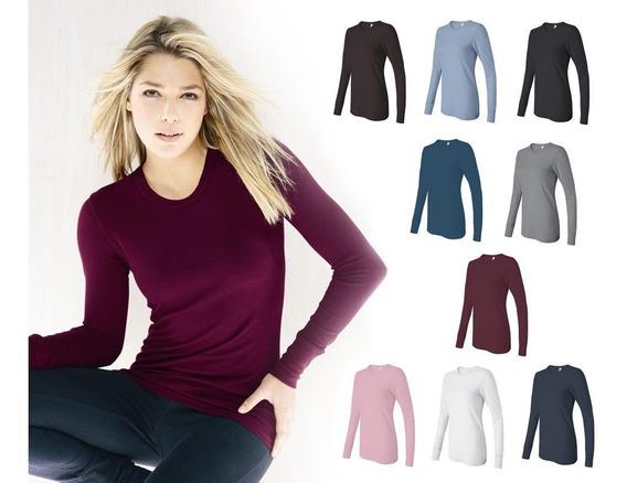 3 Blusa Feminina Longa Camisa Termica Frio Neve Proteção Uv