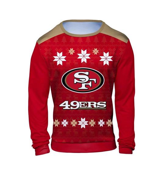 49 Ers Nfl Camisa Manga Larga Ugly Sweater Navidad Talla S