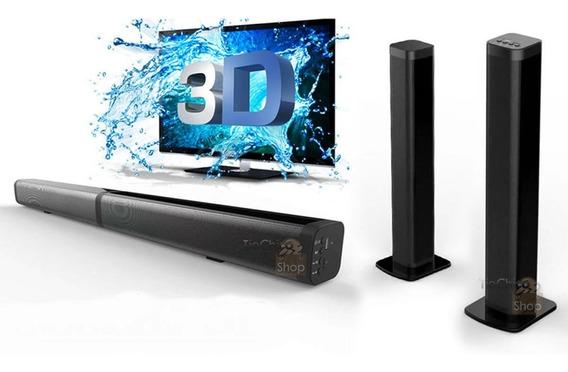 Soundbar Caixa Som Tv Bluetooth Sd Pen Drive P2 Parede Móvel