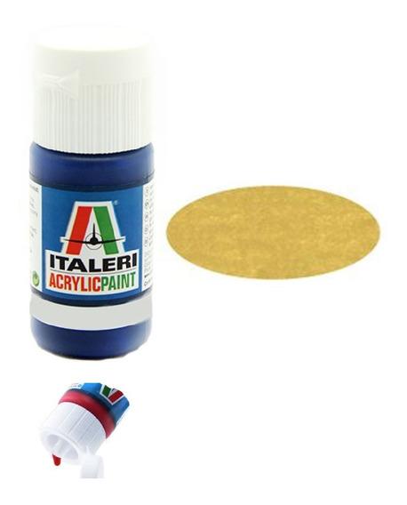 Tinta Acrílica Metalized Gold G Fs17043 4671ap 20ml Italeri