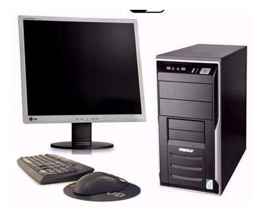 Cpu Completa Core 2 Duo 4gb Hd 80gb Dvd Wi-fi + Monitor 17
