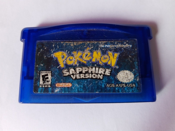 Pokémon Sapphire Original Americano! Selo De Autenticidade!