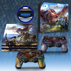 Adesivo Playstation 4 Pro Ps4 Pro Monster Hunter World Skin