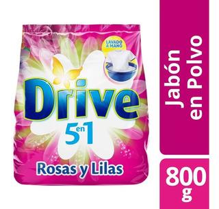 Jabon En Polvo Drive Rosas Y Lilas Bolsa X 800 G Alta Espuma