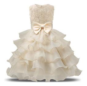 Vestido De Festa Infantil Luxo Casamento Princesa Daminha.