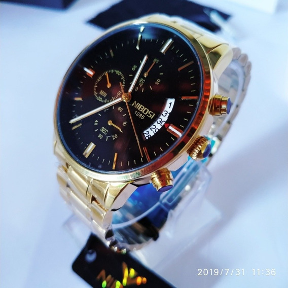 Relógio Masculino Blindado Nibosi 8287 Aço Inoxidável