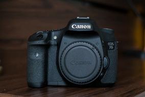 Canon Eos 7d Com Lente 50mm F1.8 Ii + Carregador + Bateria