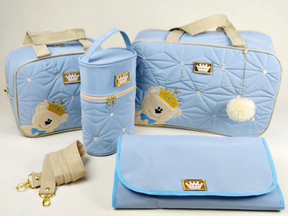 Bolsas De Bebe Urso Para Saida De Maternidade Kit Com 4peças