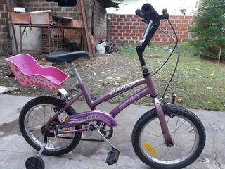 Bicicleta Bmx Nena Rodado 20+kit De Seguridad