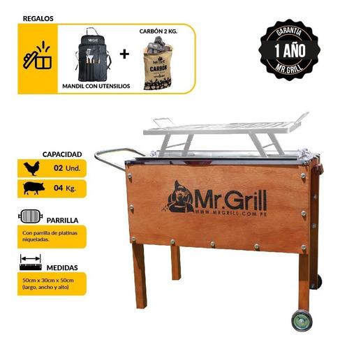 Mr. Grill-caja China Chica Mixta+ Parrilla + Utensilios