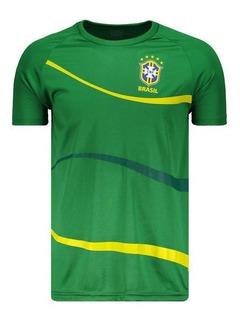 Camisa Brasil Cbf Big Waves Verde