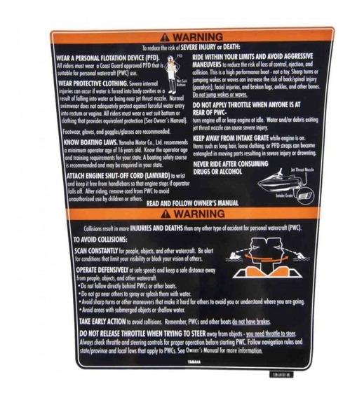 Adesivo Tampa Porta Documento Jet Ski Yamaha Vx 700 / Vx 110