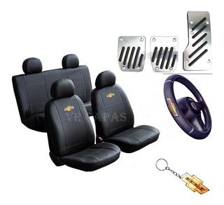 Kit Capas Couro Banco Carro Pedal Volante Celta 2 Portas