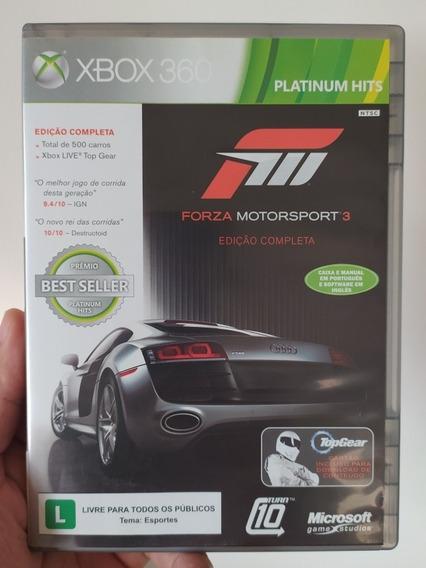 Forza Motorsport 3 Em Mídia Física Dvd Original Xbox 360