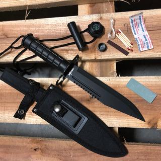 Cuchillo Supervivencia 30cm Campismo Scout Survivor Hk-786gn