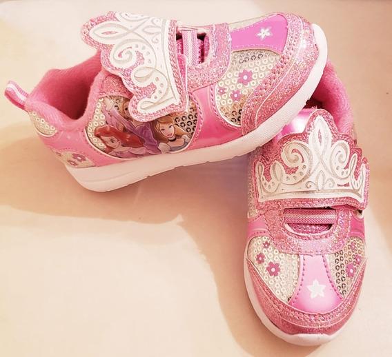 Zapatillas Princesas Luz Disney Importadas Usa V.crespo