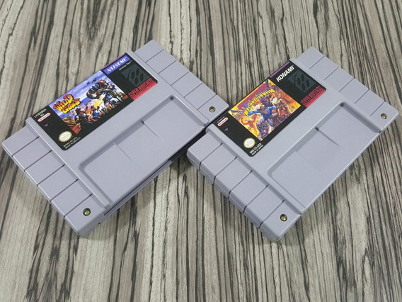 Wild Guns + Sunsetriders Originais Repro Snes + Garantia!!!