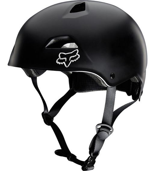 Casco Fox Flight Sport Hardshell Negro Mate Bici Mtb Bmx
