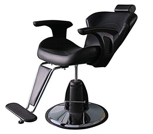 Silla De Barbero Funnylife Modern Black Styling Salon