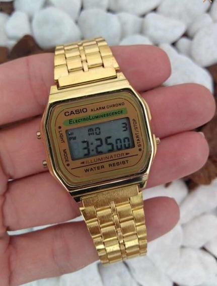 Relógio Casio Vintage Retrô Dourado