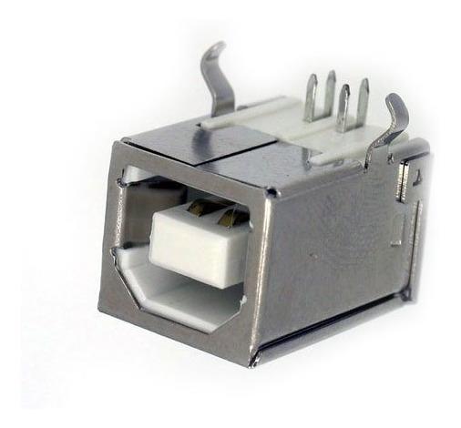Conector Usb B Fêmea 90 Graus Para Impressora