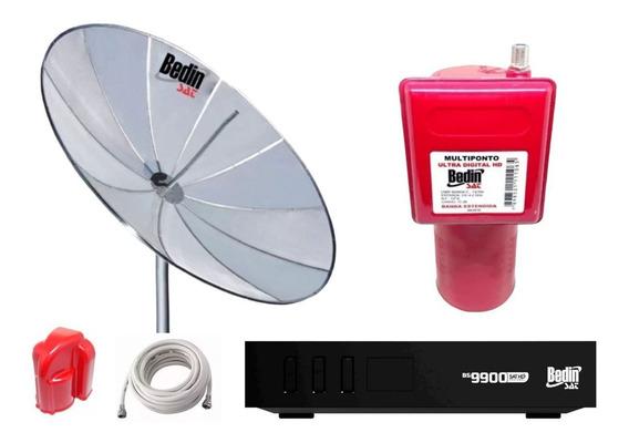 Antena Parab 1,90 Bedinsat E Receptor Hd Bs9900 Multiponto